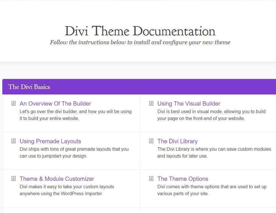 Learn how to manage your Divi theme.