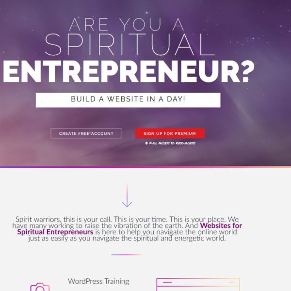 website screenshot for website in a day product
